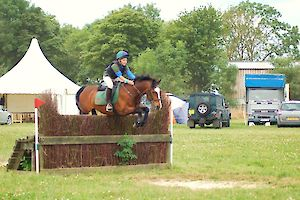 Guthrie Shields and Dippy on XC Course